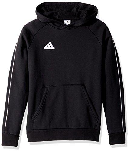 adidas Juniors' Core 18 Soccer Hoodie, Black/White, Small