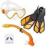 Ertong Children Snorkel Set Kids Scuba Diving Equipment Packages Including Adjustable Swim...