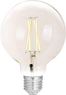WiZ Smart LED Bombilla Filamento G95 E27 (Smart Home, Regulable, 6,5 W – 60 W de potencia, 2200 K – 5500 K, lm810, control por aplicación & Voice Control Alexa, Siri, Google & IFTTT)