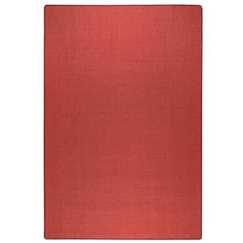havatex: Sisal Teppich Trumpf - hypoallergene Naturfaser | schadstoffgeprüft pflegeleicht schmutzabweisend robust strapazierfähig, Farbe:Rot, Größe:100 x 150 cm