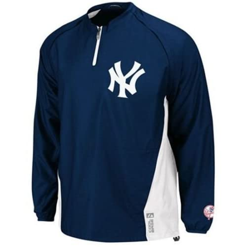 3a6905ff2 Majestic York Yankees Authentic Triple Peak 1/4 Zip Jacket Big & Tall Sizes