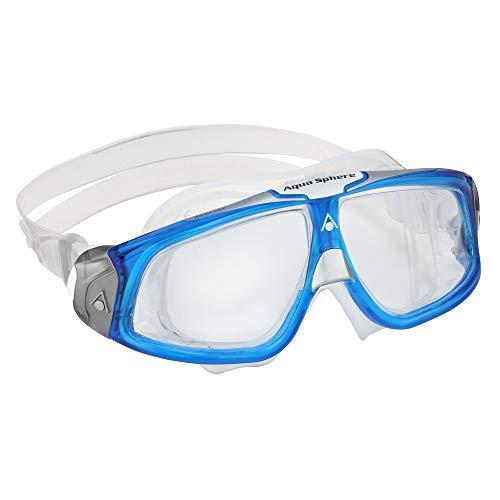 Aquasphere Seal 2.0 Gafas de natación, Unisex, Lente Azul Claro y Blanco/Transparente, Talla única