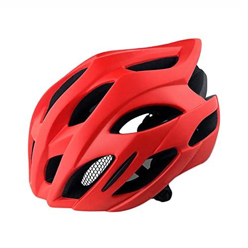 Yaxing Casco de Bicicleta,Casco Bicicleta para Hombre,Casco de Ciclismo Ligero,Cascos de Bicicleta de montaña y Carretera Ajustables para Adultos,Protección de Seguridad,20 ventilaciones 55-58cm