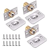 3 Piece Ball Latches, Stainless Steel Door Ball Catch, Adjustable Ball Catch, for Cabinet, Closet and Doors