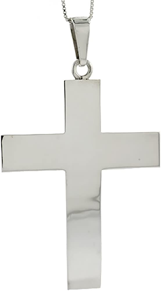 Sterling Industry No. 1 Silver Polished Latin Cross Pendant inch Tall 4 Courier shipping free shipping 2 3