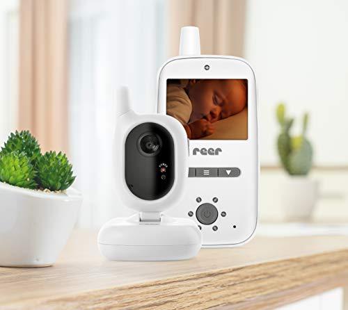 reer 80420 BabyCam Video Babyphone, 300 m Reichweite, 50 Grad Weitwinkel-Kamera, 2,4
