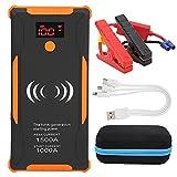 KUIDAMOS Banco de baterías USB, Conveniente, Seguro, Estable, Pantalla Inteligente, Siete Protecciones de Seguridad, arrancador de Coche para Encendedor de vehículos de Gasolina diésel de 12 V