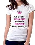 Tshirt Festa dei Nonni Non Sono in Pensione, Sono Una Nonna Professionista - Magliette Divertenti Donna - Idea Regalo Nonni