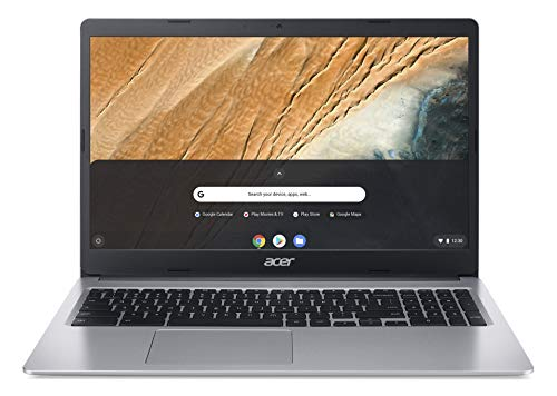 """Acer Chromebook 315 Laptop Computer/ 15.6"""" Screen for Business Student/ Intel Celeron N4000 up to 2.6GHz/ 4GB DDR4/ 32GB eMMC/ 802.11AC WiFi/ Work from Home/ Silver/ Chrome OS/ iPuzzle USB-C HUB"""