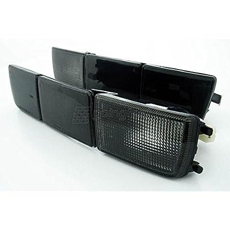 Front Blinker Blinkleuchten Lange Blenden Schwarz Set Links Rechts Eintragungsfrei Auto