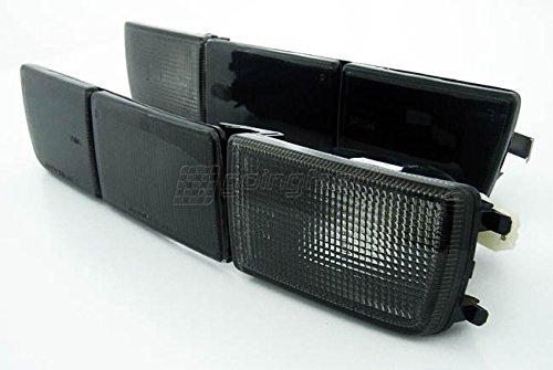 Front- Blinker Blinkleuchten + lange Blenden Schwarz Set Links+Rechts Eintragungsfrei