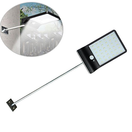 Harwls Solar LED Lights Wall Sconces with Mounting Pole Outdoor Motion Sensor Light for Porch Garage