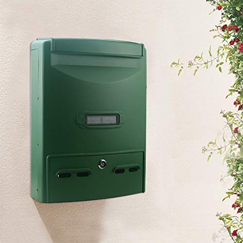 Yxsd Wall Mounted Brievenbus | Grote metalen voordeur postdozen | Afsluitbare Designer Security Post Box