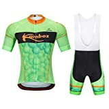 Mountain Bike Cycling Jersey Set Jersey de Ciclismo Camisa de Manga Corta + Pantalones Cortos de...