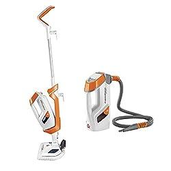 Image of Bissell PowerFresh Lift-Off Pet Steam Mop, Steamer, Tile, Bathroom, Hard Wood Floor Cleaner, 1544A, Orange: Bestviewsreviews
