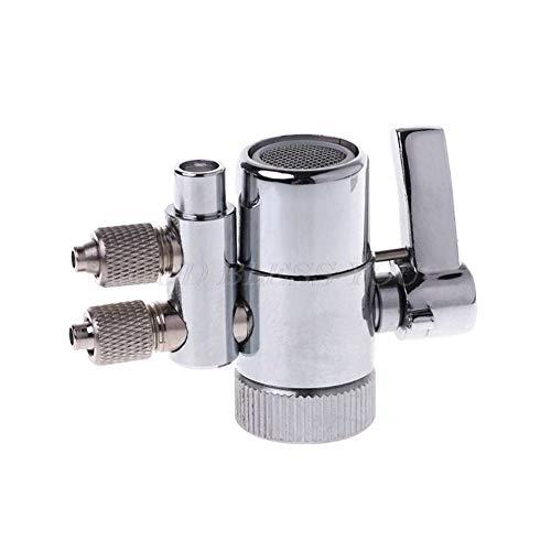 Verchromtem Metall Wasserhahn Belüfter Dual Diverter Adapter for Wasserfilter Munddusche Zubehör Ventilschalter wasserhahn küche