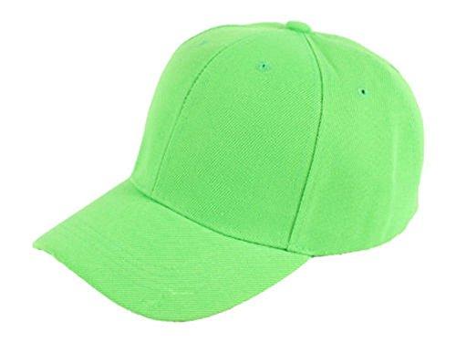 Sonnenscheinschuhe® Basecap Kappe Neon Grün Unisex Base Cap Baseballcap Schirmkappe Mütze