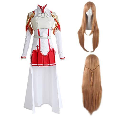 Updayday Yuuki Asuna Cosplay Disfraz Anime Sword Art Online Cosplay Disfraz Halloween Carnaval Fiesta Cosplay Trajes con Accesorios