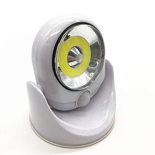 XHSHLID inductielamp, draadloos, 360 graden, LED-lampen, roterende lichten voor sport 's nachts, erf