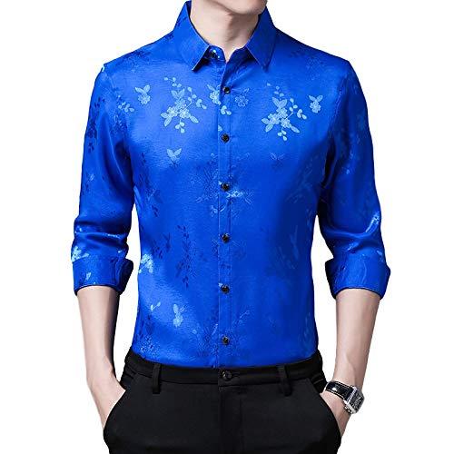 Camisas Informales para Hombres Impresión Personalizada Cómodas Camisas de Manga Larga con Botones Camisas Finas de Moda de fácil Cuidado XX-Large