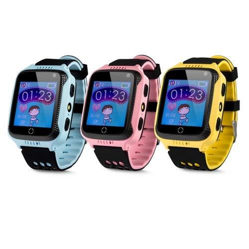 """Das Babyland DB Kinder GPS Uhr Smartwatch Telefon """"Be Clever"""" ohne Abhörfunktion mit Echtzeitpositionierung SOS Notruf Sicherheits GPS Tracker Support App Anleitung in Deutsch Farbe blau"""