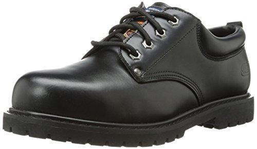 Skechers for Work Men's Cottonwood-Cropper Steel Toed Work Boot,Black Leather,7.5 M US