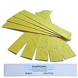 Centra24 Premium Schwefelschnitten, 25 Stück, nicht tropfend, Schwefelstangen zum Ausschwefeln von Holzfässern, Einmachgläsern, Flaschen etc. mit Befestigungsloch, Schwefelstreifen
