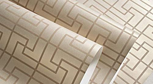 WFMJJ Behang Beibehang Chinese Klassieke ruiten Behang Slaapkamer Woonkamer Studie 3D Woonkamer TV Achtergrond Plaid 3D Behang roll Foto 1 volume Kleur 2