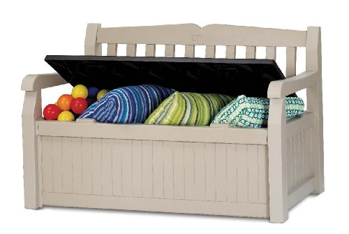 Keter Eden Bench Outdoor Plastic Storage Box...