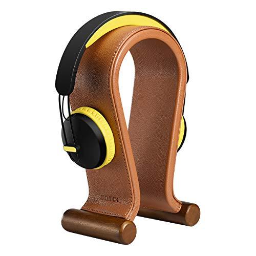 SAMDI Holz Kopfhörerständer Halter/Schreibtisch Headset Aufhänger/Kopfhörer Halter Gaming Headset Halterung - On Ear Headphone Stand (Saddle Brown)