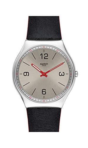 Swatch Reloj Analógico para Hombre de Cuarzo Suizo con Correa en Cuero Genuino SS07S104
