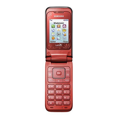 Samsung E2530 Handy (5,1 cm (2 Zoll) Display, 1,3 Megapixel Kamera, FM-Radio) rot