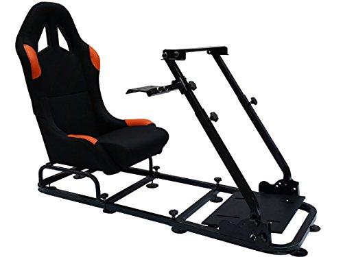 Sedile postazione di gioco per PC e consolle giochi Ps4 Ps3 Xbox One 360 nero / arancione FKRSE14123