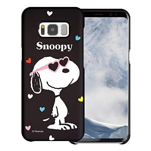 Galaxy S7 Edge ケース と互換性があります Peanuts Snoopy ピーナッツ スヌーピー ハード ケース/艶消しの硬い スリム スマホ カバー 【 ギャラクシー S7 エッジ ケース 】 (スヌーピー なサングラス 黒) [並行輸入品