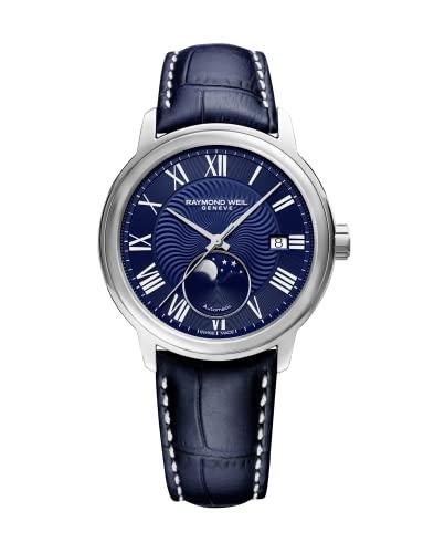 Raymond Weil Maestro Automatik Uhr, 40 mm, Tag, Mondphase, 2239-STC-00509
