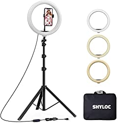 SHYLOC 18 Inches Big LED Ring Light for Photo and Video with Tripod Stand Compatible with Camera and Smartphones,SHYLOC