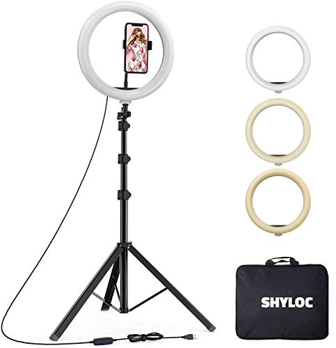 SHYLOC 18 Inches Big LED Ring Light for Photo and Video with Tripod Stand Compatible with Camera and Smartphones