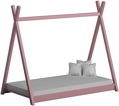 Madera nórdica a través de sala triangular tienda de camas juego de cama de madera piso de madera de la cama de los niños creativos,C- 160x80