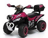 giordano shop Mini Quad Elettrico per Bambini 6V Kid Go Deluxe Rosa