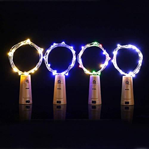 Sensibilidad 1pc 1.4m 15led Bottle Bottle Lights, Starry Starry en botellas, Luces de cadena con batería Botella de vino Tapón de corcho Tapón de tapón Copper Copper Decoración de Navidad - Luz colori
