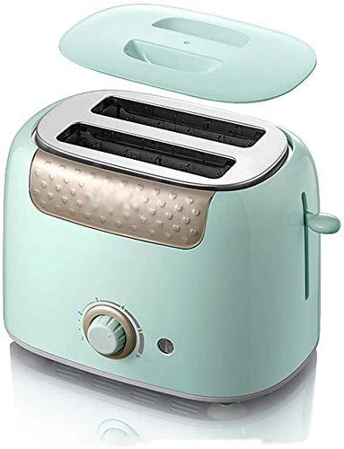 RENXR 2 Scheiben Toaster Rostfreier Stahl 6 Einstellungen Extra breiter Schlitz Abnehmbare Krümelschublade Automatischer Sprung Keine Notwendigkeit zu schützen,Grün