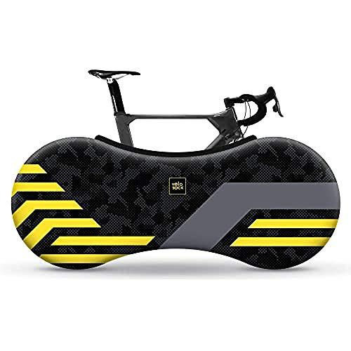 Velo Sock Unisex– Erwachsene Yellow Lines Bike Cover, One Size