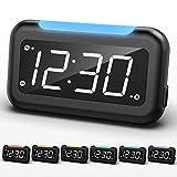 Housbay Digital LED Alarm Clock for Bedrooms-7 Colors Nightlight, Easy to Set, Full Range Brightness Dimmer, USB Charger , Battery Backup ,Plug-in Clock for Kids, Teens, Boys, Girls