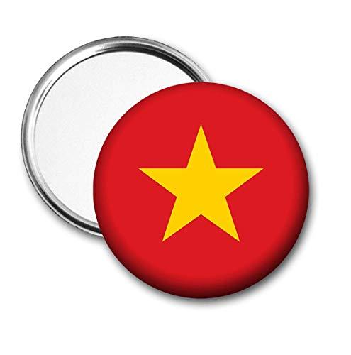 Vietnam Vlag Pocket Spiegel voor Handtas - Handtas - Cadeau - Verjaardag - Kerstmis - Stocking Filler - Secret Santa
