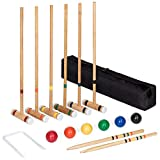 Best Choice Products 6-Player 32in Yard Classic Wood Croquet Sport Game Set w/