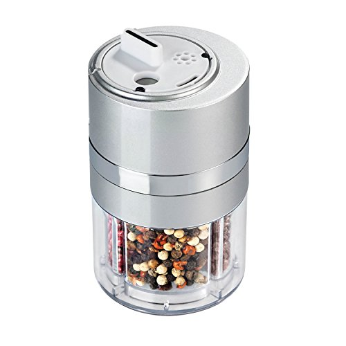 Zevro KCH-06112 Dial-a-Spice Multiple Spice Container, Silver