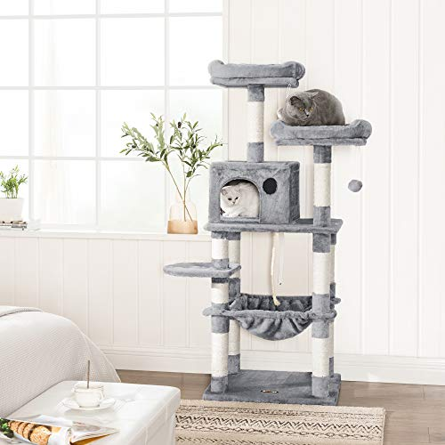 FEANDREA Multi-Level Cat Tree with Hammock