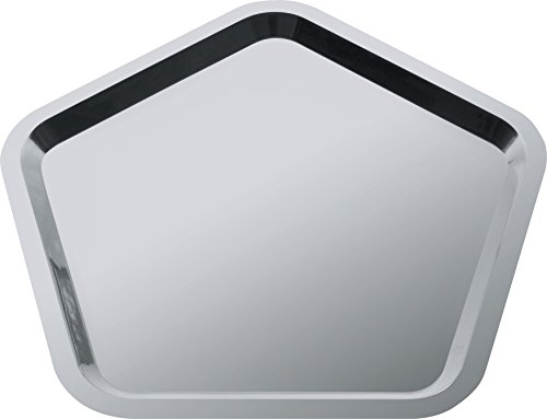 Alessi'Territoire intime' Pentagonal Tray in 18/10 Stainless Steel Mirror Polished, Silver