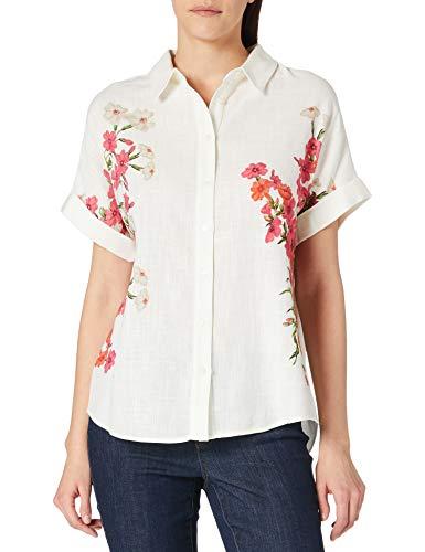 Desigual CAM_GRISOL Camiseta, Blanco, M para Mujer