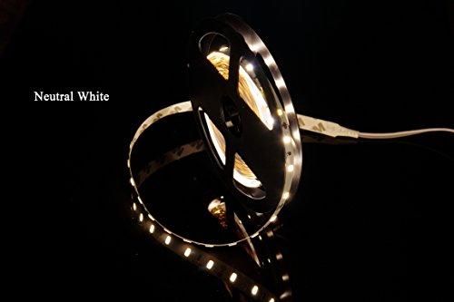 MARSWELL High CRI RA 80+ DC12V Tira de Luz LED Neutro Blanco 4000K-4500K SMD5630 No Impermeable